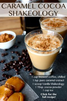 Satisfy your sweet tooth & get a caffeine pick-me-up with this coffee house-inspired smoothie recipe. It blends the flavors of coffee, caramel, & cocoa with creamy Vanilla Shakeology. Click through to get the recipe! // shakeology recipes // Thirsty Thursday // healthy recipes // drinks // beachbody // beachbody blog