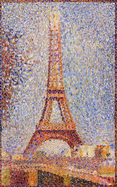 The Eiffel Tower - Georges Seurat. My love for Georges Seurat is infinite. Georges Seurat, Museum Of Fine Arts, Art Museum, Art Amour, Art Et Architecture, Post Impressionism, Inspiration Art, Art Design, Design Model