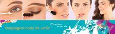 Maquiagem de Fábio Gonçalves para campanha virtual da linha de maquiagem Aquarela da marca Natura.