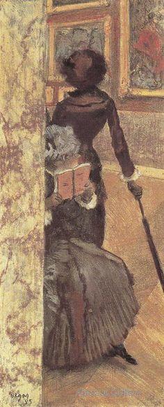 Edgar Degas, Mary Cassatt at the Louvre Painting Gallery, 1879