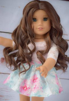 Custom Doll Wig for 18 Dolls American Girl Doll Heat High Quality Wigs, Journey Girls, Our Generation Dolls, Doll Wigs, Wig Cap, Doll Head, Custom Dolls, Girl Dolls, American Girl