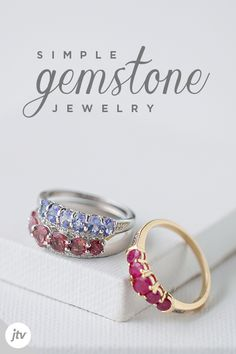 Looking for a particular piece of colored gemstone jewelry? Shop JTV's collection of colored gemstone rings, pendants, and necklaces here. Simple Jewelry, Cute Jewelry, Jewelry Shop, Diy Jewelry, Jewelery, Vintage Jewelry, Jewelry Accessories, Jewelry Design, Jewelry Making