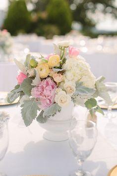 ranunculus, peony, hydrangea, rose centerpiece | Photography: Heather Hawkins Photography - heatherhawkinsphoto.com, Florals by http://meganwilkes.com  Read More: http://stylemepretty.com/2013/10/09/burleson-texas-wedding-from-heather-hawkins-photography/