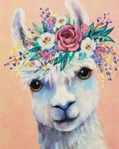 Painting - Easter Island by Esoterica Art Agency , Llama Pictures, Llama Arts, Canvas Art Prints, Painting Canvas, Acrylic Painting Animals, Acrylic Painting Tutorials, Mundo Animal, Beginner Painting, Nalu