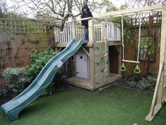This cunning design design enables even a small garden to have a comprehensive playhouse climbing frame.Our standard charge of delivery and installation will be added automatically at the checkout stage. Cozy Backyard, Ponds Backyard, Backyard For Kids, Small Yard Kids, Backyard Projects, Garden Climbing Frames, Kids Climbing Frame, Wooden Climbing Frame, Play Area Garden