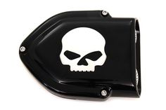 Black V-Charger Air Cleaner Assembly for CV Carb w/Chrome Skull New Bobber  #VTwinManufacturing