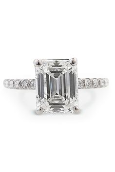 Louis Glick - 1.73 Emerald Cut Diamond Ring from Osterjewelers.com