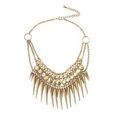 Necklace Spikey Gold