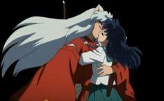 InuYasha: The Final Act. Kagome and InuYasha finally kiss! Inuyasha Fan Art, Kagome And Inuyasha, Miroku, Kagome Higurashi, Studio Ghibli Wallpaper, Dragon Rise, My Little Pony Drawing, Anime Ships, Teen Titans