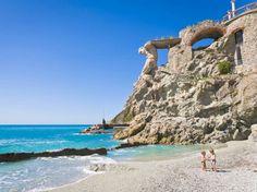 Italy's most beautiful beaches, Monterosso Al Mare, Liguria.