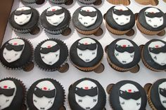 It's a cupcake (win!), & B Panda colors (win! Someone better make these for me. Birthday For Him, 10th Birthday, Birthday Ideas, Car Cupcakes, Cupcake Cakes, Top Gear, Party Ideas, Gift Ideas, Kids Meals