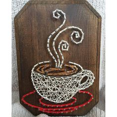 Coffee string art by  imhangingitup