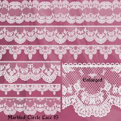 18 Piece Delicate Vintage Digital Lace Trim Borders & Frames Victorian Commercial Use Digital Scrapbooking Cardmaking Printable Cottage Chic