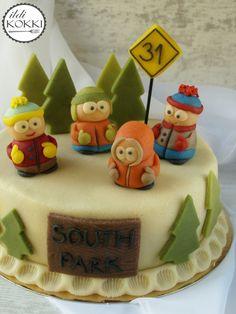 South Park cake Eric Cartman, South Park, My Recipes, Cake Ideas, Birthday Cake, Desserts, Food, Cookies, Food Cakes
