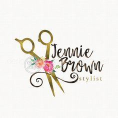 hair stylist logo beauty logo premade logo by stylemesweetdesign