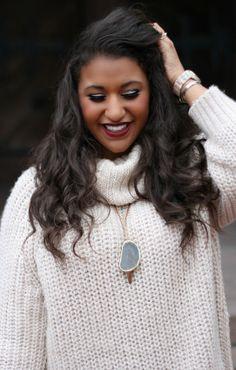 oversized sweater & olive jeggings  mac diva lipstick misskayscouture.blogspot.com