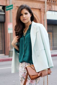 Teal with mint