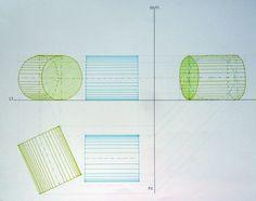 cilindri in posizione normale e inclinata a due piani di proiezione
