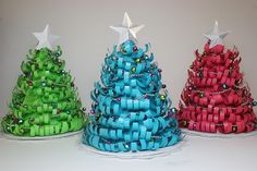 Christmas trees made with the an Edge It die and Nesting Star die by @Shaunte Wadley. Tutorial included!