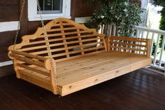 Amish Cedar Wood Marlboro Single Mattress Swing Bed from Pallet Garden Furniture, Outdoor Furniture Plans, Diy Furniture, Antique Furniture, Modern Furniture, Furniture Projects, Rustic Furniture, Hanging Furniture, Furniture Design