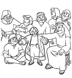Kids coloring page from What\'s in the Bible? featuring Job and his ...