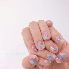 Nail art is the very best invention in the beauty. So, why leave your nails natural when a little bit of work can turn them into an eye-catching piece of a Cute Nail Art, Cute Nails, Pretty Nails, Nail Art Designs, Korean Nail Art, Kawaii Nails, Minimalist Nails, Dream Nails, Natural Nails