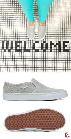 0499ab9da6b3 The Vans Asher slip-on is playfully pretty and perfect for every warm  weather wardrobe