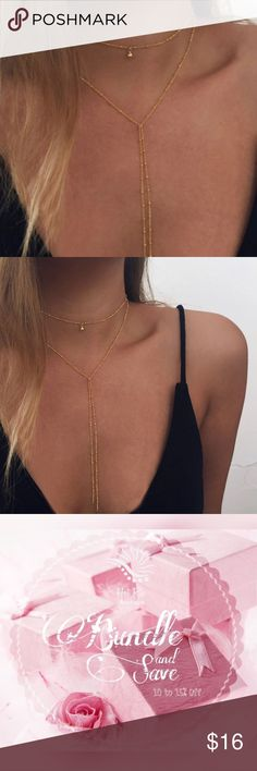Bella Tassel Choker Necklace ▪️ Brand New ️  ▪️Dainty ▪️Color: Gold ▪️Price is firm unless bundled   🌷 Happy Poshing! Jewelry Necklaces