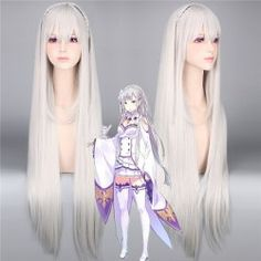 SHARE & Get it FREE | ReZero Emilia Silky Straight Extra Long With Braided Synthetic Cosplay WigFor Fashion Lovers only:80,000+ Items • New Arrivals Daily • Affordable Casual to Chic for Every Occasion Join Sammydress: Get YOUR $50 NOW!