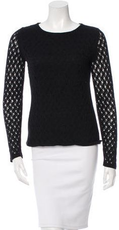 Diane von Furstenberg Open Knit Long Sleeve Top Diane Von Furstenberg, Long Sleeve Tops, Knitting, Stylish, Blouse, Clothing, Sweaters, Women, Fashion