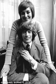 Robin with wife Molly Gibb in 1969