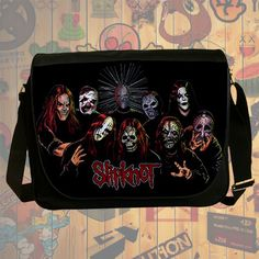 NEW Custom : Slipknot Heavy Metal Messenger School Laptop Bag By Gift Ideas #09