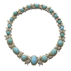 Turquoise and diamond necklace, Van Cleef & Arpels, circa 1965