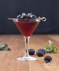 Blackberry basil cocktail with St. George Spirits Gin