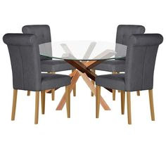 Buy Home of Style Abbotsley Dining Set with 4 Chairs at Argos.co.uk, visit Argos.co.uk to shop online for Dining sets, Dining room furniture, Home and garden