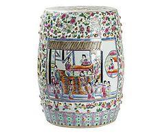 Sgabello decorativo in porcellana - 47x35 cm
