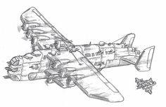 "B-24II ""Super Liberator"" by ~Pixel-pencil on deviantART"