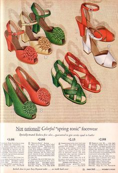 Unrationed--shoes from 1944.