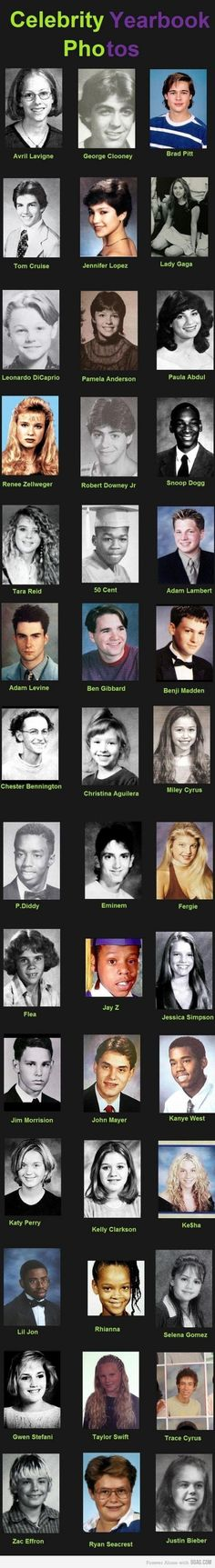 Celebrity Yearbook Photos. So there is hope!! I love the JB one!! Hahaha.......
