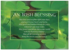 Traditional Irish Blessing | Irish Blessing Card A2061D-Y