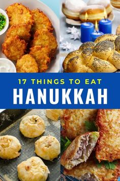 17 Delicious things to eat for the festival of lights. Hanukkah food you cannot miss including challah, latkes, kugel, braised brisket, tzimmes, rugelach, cholent, holishkes, dreidel cookies, Hanukkah short ribs, gefiltefish, knishes, blintzes, matzoh ball soup. #Hanukkah #holidays #festivaloflights Braised Brisket, Hanukkah Food, Magic Recipe, Challah, Festival Lights, Short Ribs, Original Recipe, Tandoori Chicken, Bacon