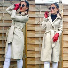 #hairstyleideas #photography #redgloves  #hairtutorial # Red Gloves, Beige Coat, What I Wore, Everyday Fashion, Girl Fashion, Gucci, Nude, My Style, Hair Styles