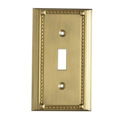 Clickplates Single Switch Plate In Brass