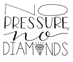 Day 76: No pressure, no diamonds. Year of lettering project.