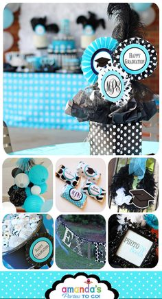 Graduation Party Printable  Monogram Party  by AmandasPartiesToGo, $29.00