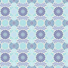 Multi Fan - Blue via MuralsYourWay.com