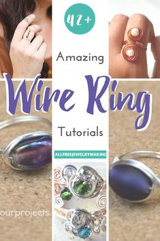 Open Circle Diamond Ring in Gold / Unique Diamond Ring / Special Gift / Graduation Gift - Fine Jewelry Ideas Wire Rings Tutorial, Ring Tutorial, Wire Jewelry Making, Jewelry Making Tutorials, Jewellery Making, Free Tutorials, Diy Schmuck, Schmuck Design, Handmade Beaded Jewelry