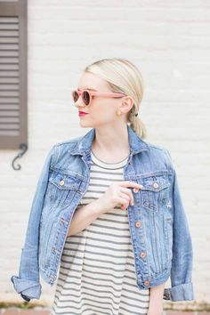Madewell Short Sleeve Striped Tee Dress - Poor Little It Girl