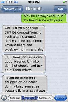 Texts From Bennett. He gives the best dating advice. lmao