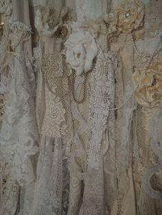 Handmade Vintage Lace Curtains 2 Curtain Panels 57x100 Boho Gypsy Jewelry Tmyers | eBay